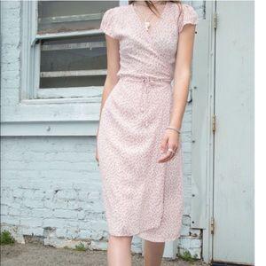 Brandy Melville pink floral dress